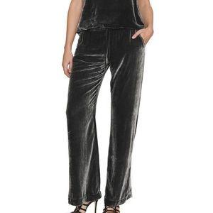 Bella Dahl velvet wide leg pants NWOT